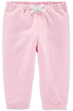 Carter's Baby Girls Pull-On Cotton French Terry Pants