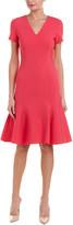 Carolina Herrera Silk-Lined Wool-Blend Sheath Dress