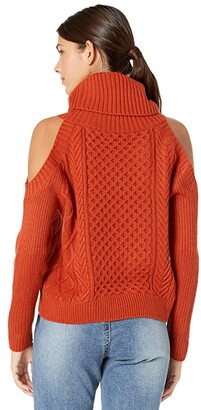 Rock and Roll Cowgirl Sweater Cold-Shoulder 46-7683