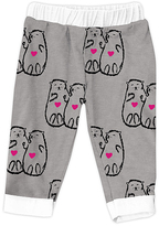 Urban Smalls Light Gray Otters Holding Hands Harem Pants - Infant