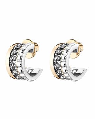 DEMARSON Portia Crystal Chain-Hoop Earrings