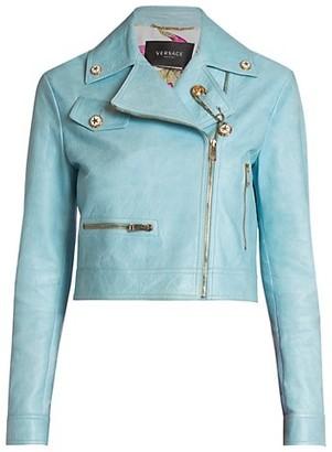 Versace Safety Pin Nappa Leather Jacket