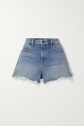 Alexander Wang Bite Frayed Denim Shorts - Blue