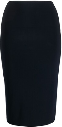 Norma Kamali mid-length fitted tube skirt