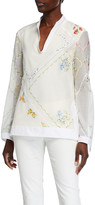 Tory Burch Handkerchief Embroidered Tunic