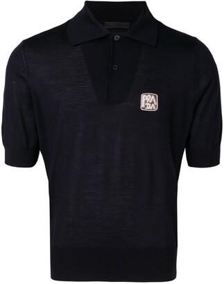 Prada small logo polo shirt