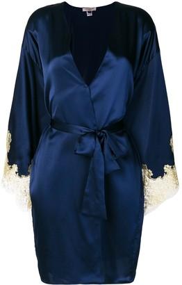 Gilda & Pearl Gina lace-cuff satin dressing gown