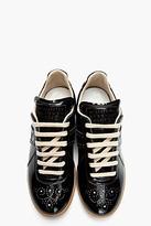 Maison Martin Margiela Black patent perforated replica sneakers