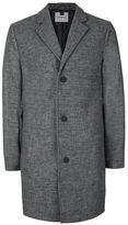 Topman Gray Wool Rich Overcoat