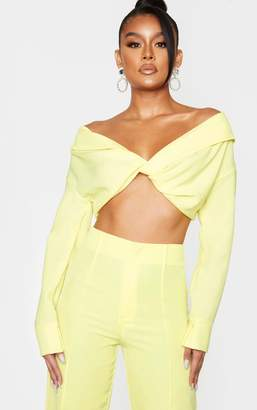Bardot 4fashion Lemon Twist Front Blouse