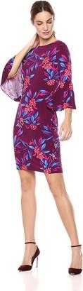 Calvin Klein Women's 3/4-Peplum Sleeve Sheath Dress