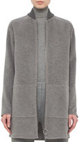 Akris Punto Baseball-Collar Zip-Front Coat, Cliff