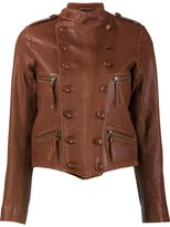 Faith Connexion double breasted leather jacket