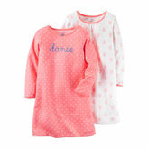Carter's 2-pk. Peach Floral Long-Sleeve Gowns - Toddler Girls 2t-5t