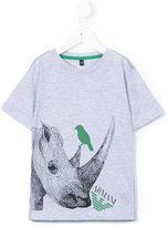 Armani Junior rhino print T-shirt - kids - Cotton - 5 yrs