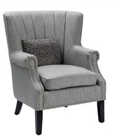 Grannis Upholstered Channel Back Accent Armchair Alcott Hill