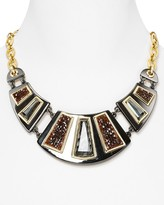 Lux Runway Ready Full Frontal Bib Necklace, 18