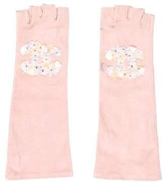 Chanel Suede Fingerless Gloves