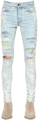 Amiri 15CM CRYSTAL BLEACH COTTON DENIM JEANS