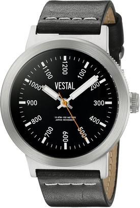 Vestal Unisex SLR3L002 The Retrofocus Analog Display Quartz Black Watch