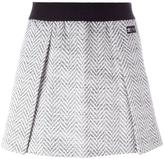 adidas herringbone pleated skirt