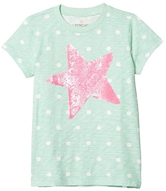 crewcuts by J.Crew Sequin Tee (Little Kids/Big Kids) (Sequin Star) Girl's Clothing