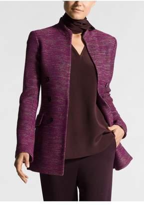 St. John Ombre Ribbon Tweed Mandarin Collar Jacket