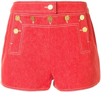 Chanel Pre Owned Buttoned Flap Shorts