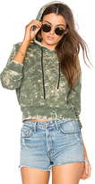 Cotton Citizen The Milan Cropped Pullover Hoodie in Sage