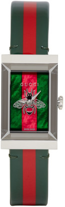 Gucci Green and Red G-Frame Watch