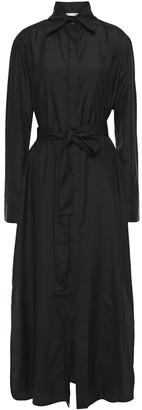 The Row Belted Silk Maxi Shirt Dress