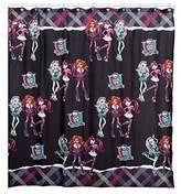 Mattel Monster High Fabric Shower Curtain 70 x 72