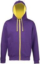 Awdis Mens Varsity Hooded Sweatshirt / Hoodie / Zoodie (M)