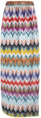 Missoni Knit Long Skirt W/ Deep Side Slit