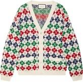 Gucci jacquard print wool cardigan
