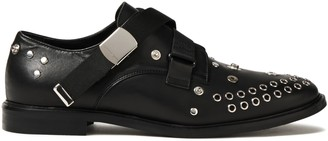 McQ Skelter Embellished Leather Brogues