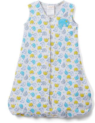 Sweet & Soft Boys' Infant Sleeping Sacks - Blue & Yellow Elephant Wearable Blanket - Newborn & Infant