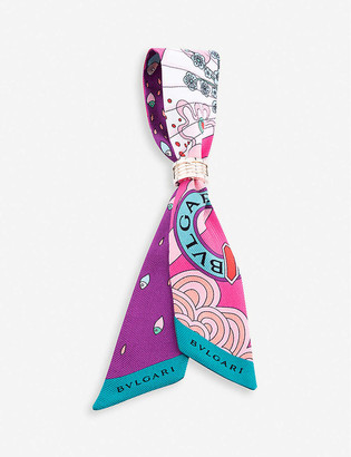 Bvlgari Tie Me Jazz Shelley silk scarf