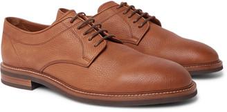 Brunello Cucinelli Pebble-Grain Leather Derby Shoes