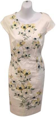 Hobbs White Cotton - elasthane Dress for Women