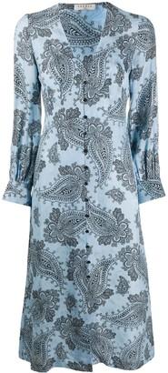Sandro Paris Beane paisley-print dress