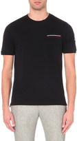 Moncler Gamme Bleu Grosgrain-trim slim-fit cotton-piqué t-shirt