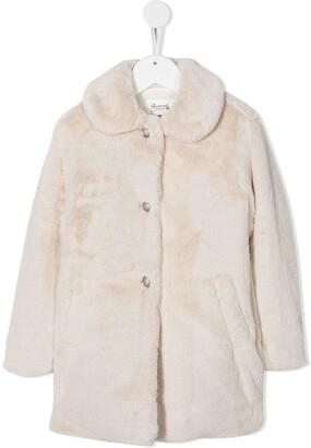 Bonpoint Faux Fur Single-Breasted Coat