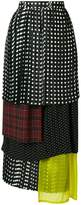 Facetasm polka dot layered skirt
