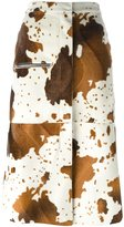 Golden Goose Deluxe Brand faux cow skin skirt - women - Cotton/Polyester - XS