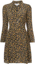 Derek Lam 10 Crosby Cascade Blouse Shift Dress with Bell Sleeves