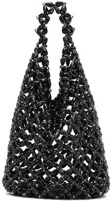 Simone Rocha Floral Beaded Hobo Bag
