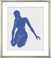 """William Stafford Blue Figure VI 24""""L x 20""""W x 1""""D Art"""