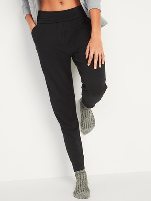 Old Navy Mid-Rise UltraLite French Terry Jogger Yoga Pants for Women