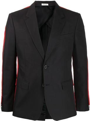 Alexander McQueen Side-Stripe Blazer